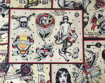 Tattoo Flash Set 5 by Brian Kelly. 5 sheets.