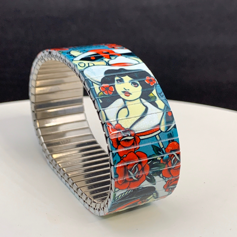 2 Banded Berlin 23mm Brian Kelly Tattoo Flash Bracelet No