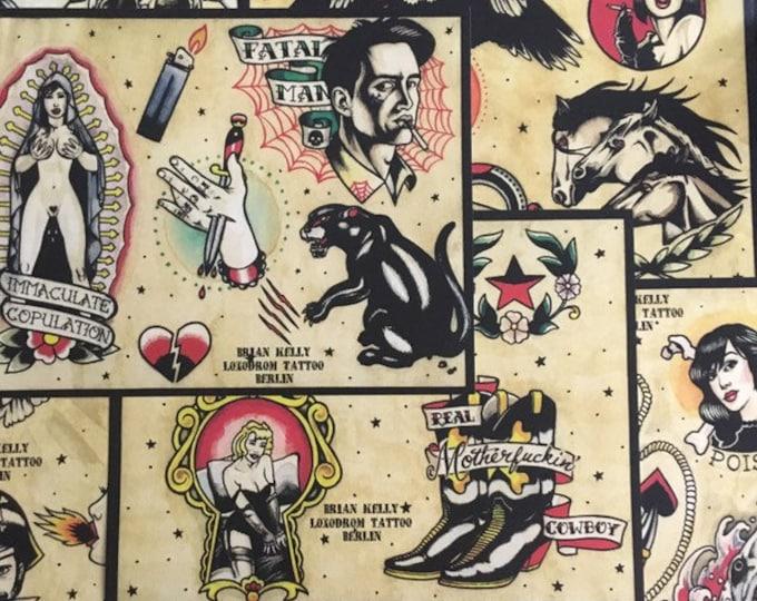 Tattoo Flash Set 4 by Brian Kelly. 6 sheets.