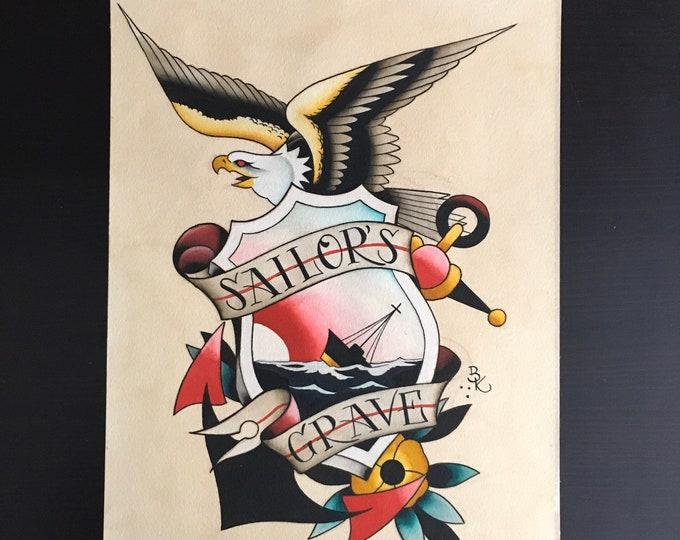 Sailor's Grave, Original Painting
