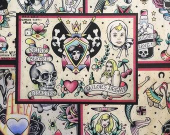 Tattoo Flash Set 6 by Brian Kelly. 5 sheets.