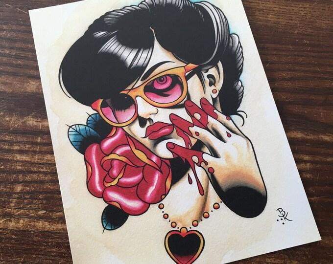 Kill, Kill, Die Tattoo Art Print