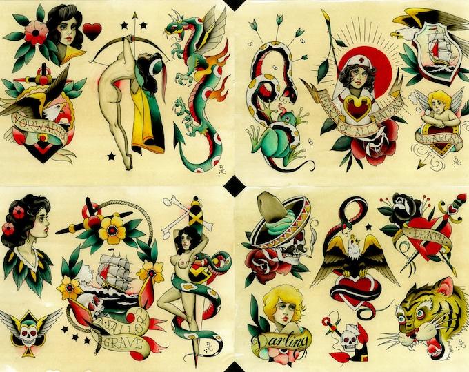 Tattoo Flash Set 26 by Brian Kelly.  4 sheets.