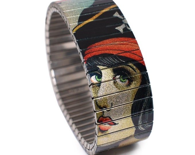 "Banded Bracelets 23mm ""Shipwreck"" Brian Kelly Tattoo Flash Bracelet"