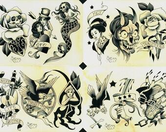 Shades of Grey Tattoo Flash Set 32 by Brian Kelly