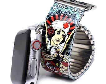 Banded Nurse Love Brian Kelly Tattoo Flash Apple Band