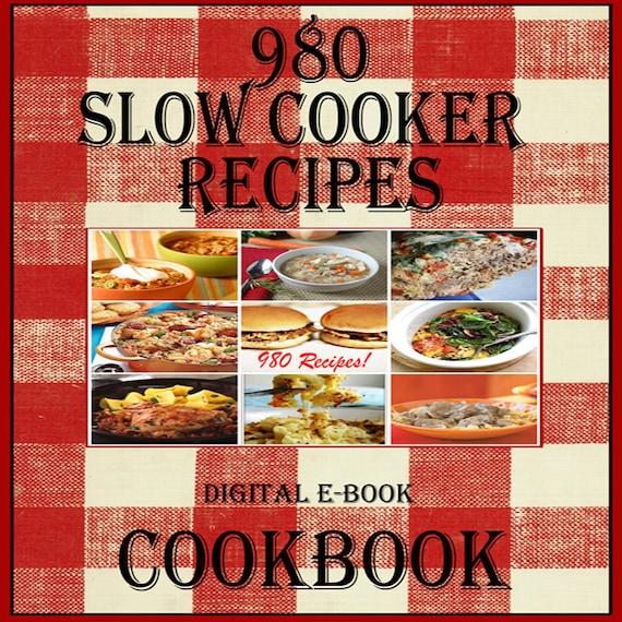 980 Slow Cooker Crockpot Recipes E Book Cookbook Instant Etsy