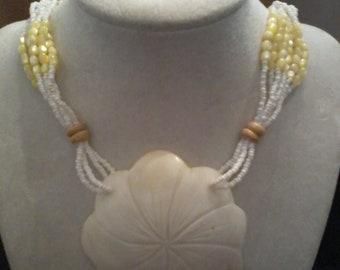 Vintage  Sand Dollar Necklace    Price Reduced
