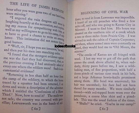 Old Book The Life Of James Redpath 1926 SIGNED Copy Anti Slavery Activist  and Journalist