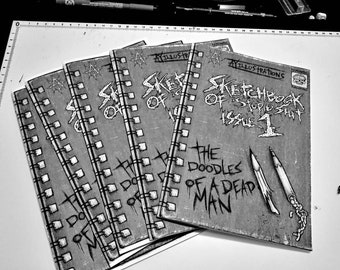 Sketchbook of stupid s**t issue 1. A zine filled with dumb doodles