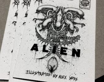 ALIEN Art Book /xenomorph horror art zine by ayillustrations