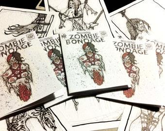 zombie bondage art book/ erotic zombie zine/ bdsm drawings