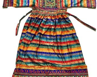 64476d93c22 STRIPEY Kuchi Afghan Banjara Tribal Boho Hippie Style Brand Ethnic Dress  Eid Party