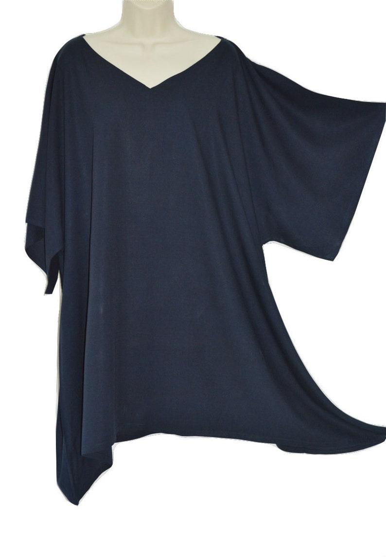 acdb8c5e10daec Plain Top Ladies Blouse Buttersoft Wide Sleeves Rayon Kaftan