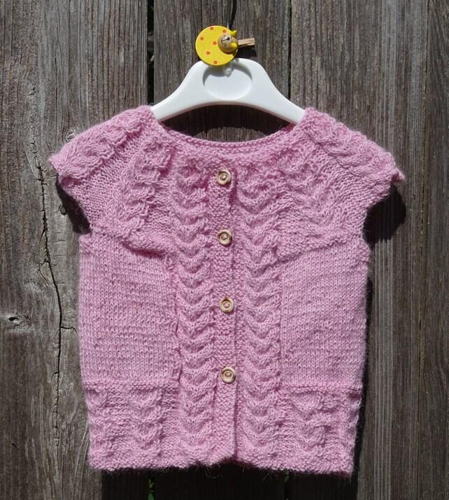 Hand stricken Babyweste rosa ärmellose Pullover Kabel Weste | Etsy
