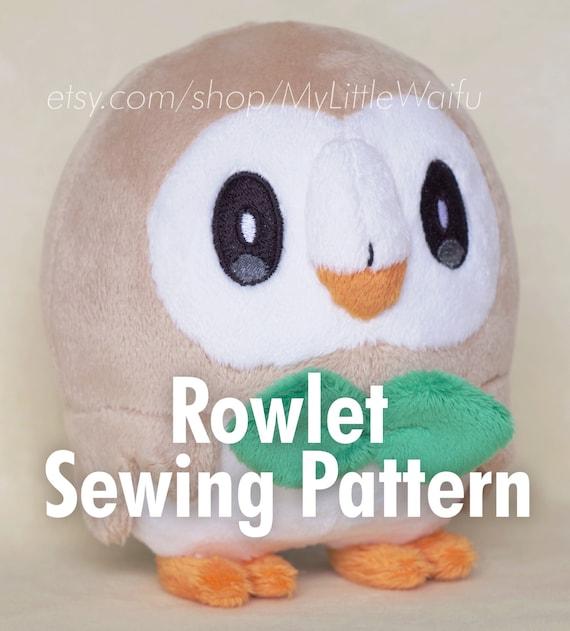 DIY Rowlet Plush Sewing Pattern Eye Embroidery Files | Etsy