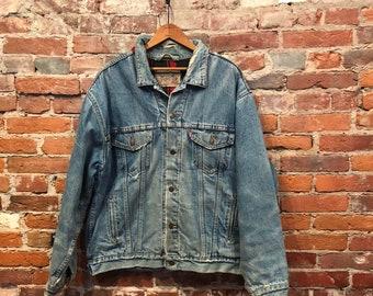 Vintage Original Gap Flannel Lined Denim Jacket Medium Large Etsy