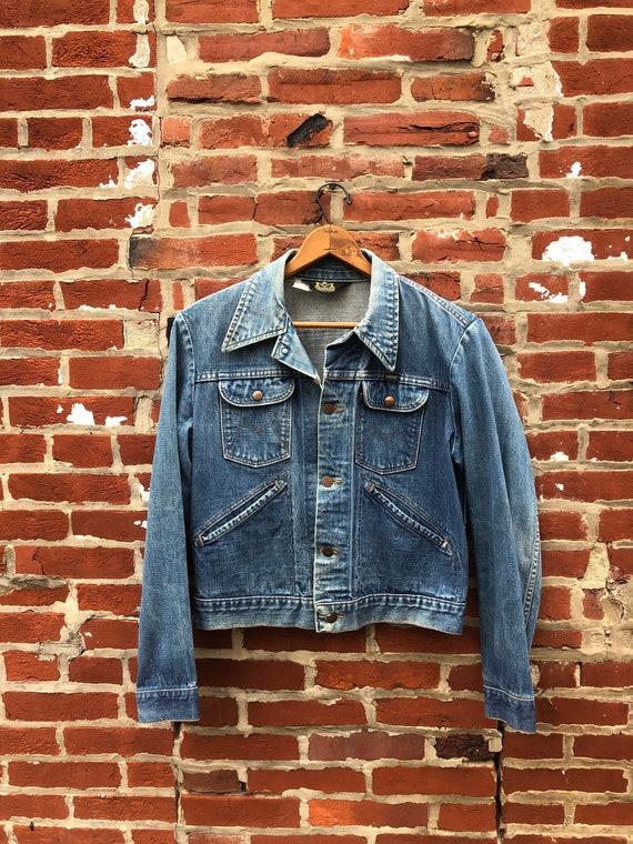 Vintage Maverick Blue Bell Denim Jacket Mens Denim
