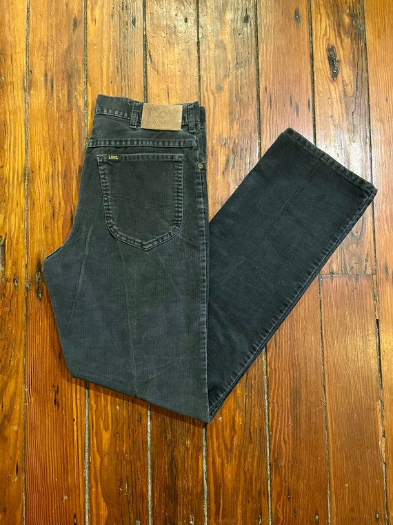 Vintage Lee Corduroy Pants Faded Black Corduroy Pa