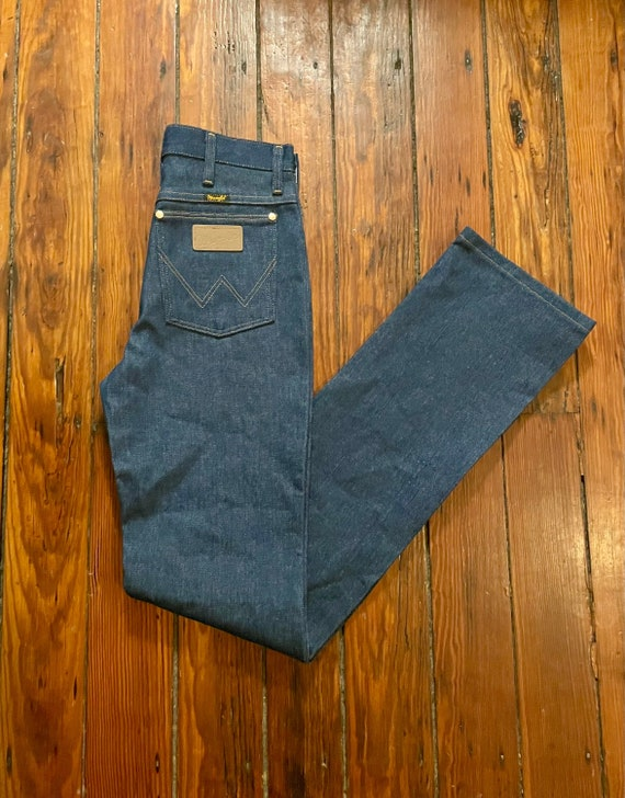Vintage Deadstock Wrangler Jeans with Leather Pock