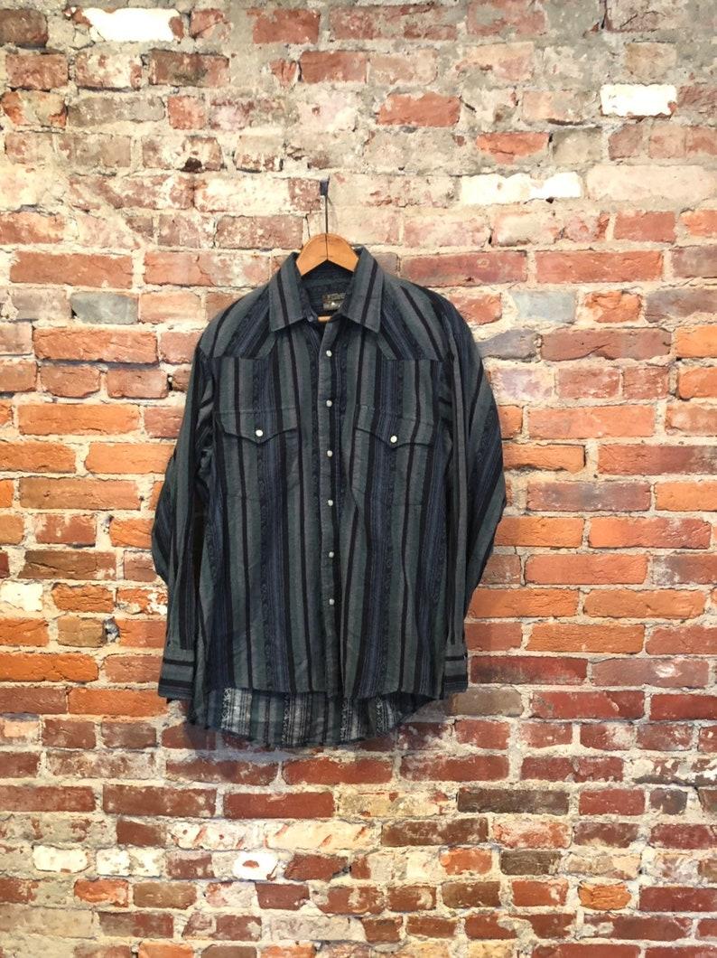 0a4dbcccfc Vintage Southwestern Flannel Western Shirt by Outlaw Weastern Wear Large