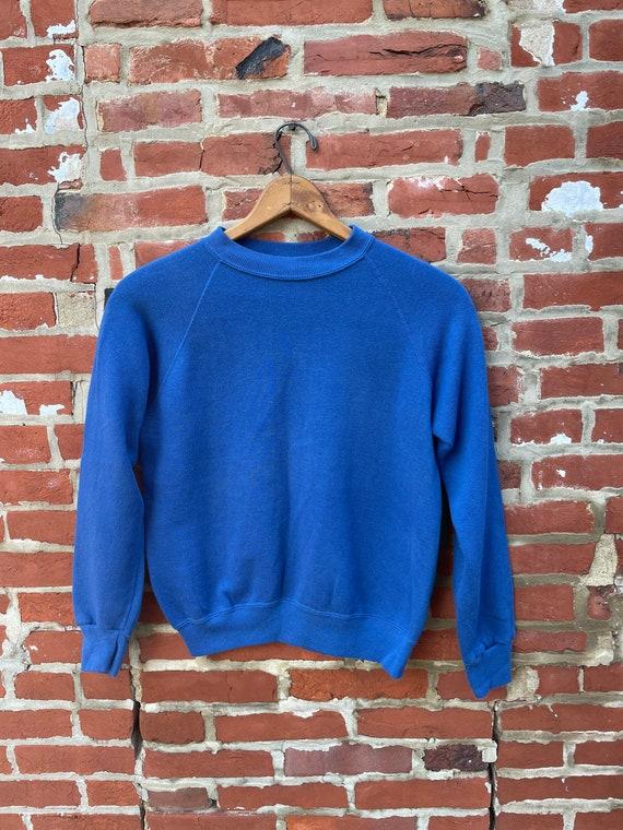 Vintage Royal Blue Crewneck Sweatshirt Faded Royal