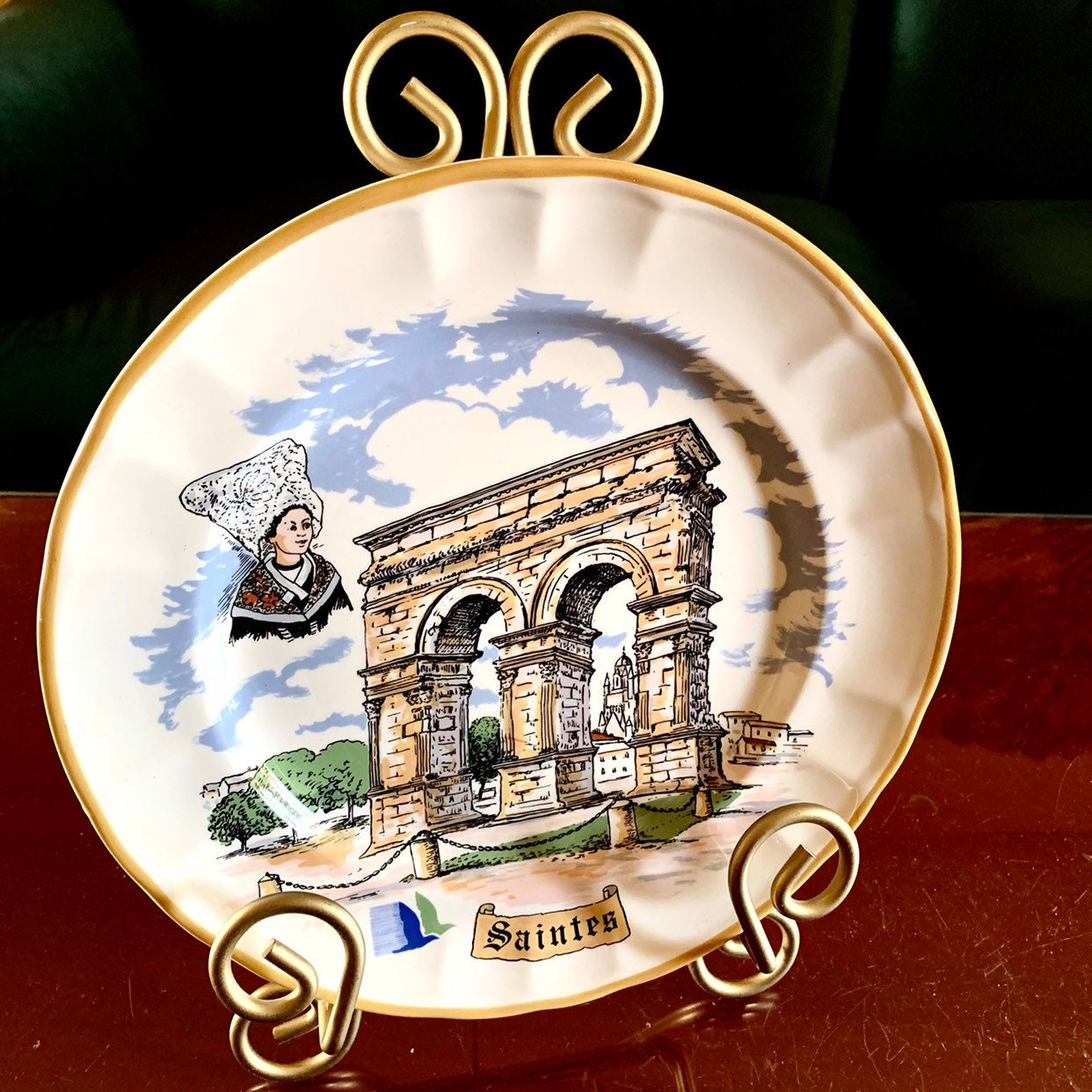 Paris Arc De Triomphe porcelain plate