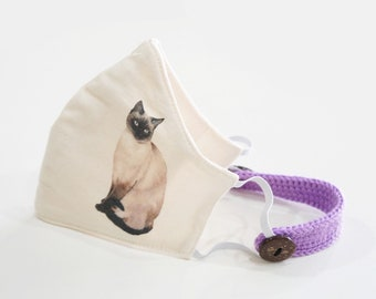 Pick a Style + With or Without Name Add a Name Personalised Tonkinese Cat Tote Bag