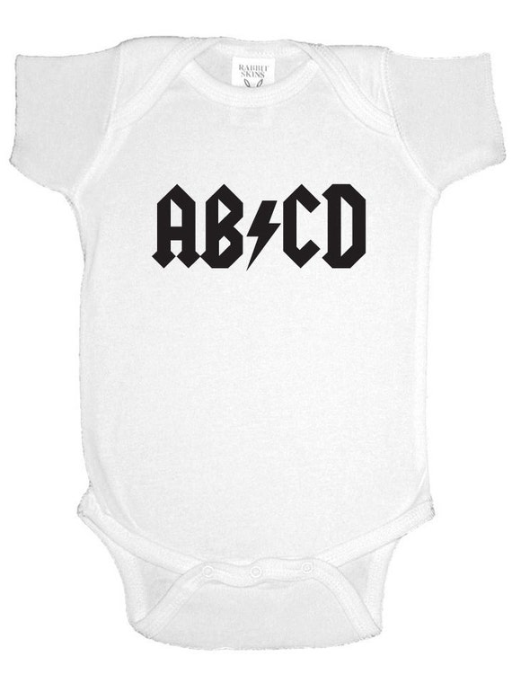 ACDC Classic Rock Band Back In Black Toddler Boy Girl Infant Baby One Piece 1