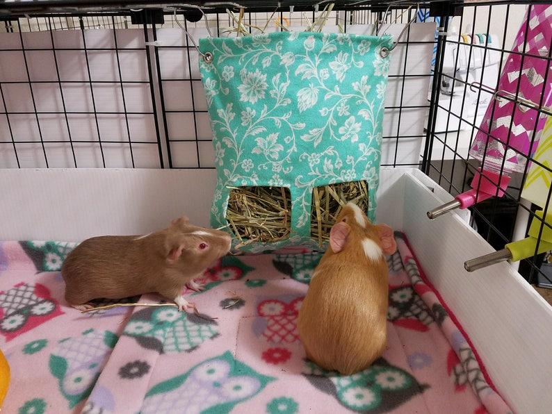 Rabbit Hay Sack Chinchilla Hay Bag Fabric Hay Bag Guinea Pig Hay Bag Hanging Hay Feeder
