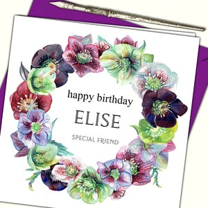 Personalised Birthday Card Sister Friend Grand Mother Daughter 18 21 30 40