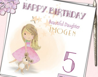 Daughter Niece Granddaughter Girl Personalised Birthday Card Lego Friends