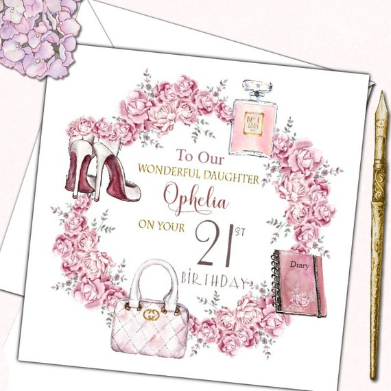 Personalised Birthday Card Female Mother Daughter Sister Friend 30th 40th 50th