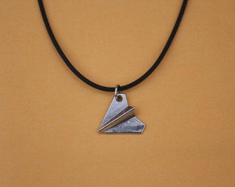 c387aeaf4c Silver Paper Airplane choker necklace , Harry Styles airplane necklace , One  Direction, 1D Necklace
