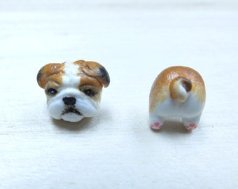 Bull Dog Earrings - Bulldog Stud Earrings - Bull Dog Lovers Gifts - Pets Earring - Pets Lover Gifts - Cute Earrings - Bulldog Post Earrings