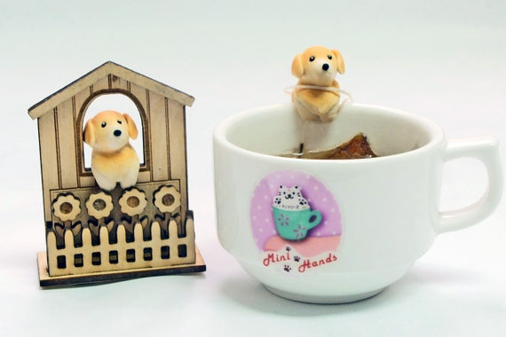 Golden Retriever Tea Bag Holder Golden Retriever Gifts Etsy