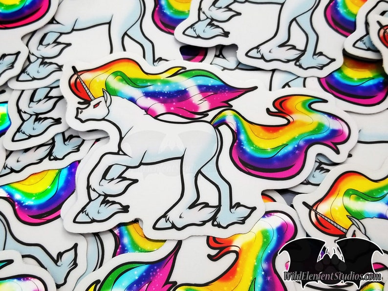 CHARITY Large Vinyl Stickers  LGBT wrath pride rainbow image 0