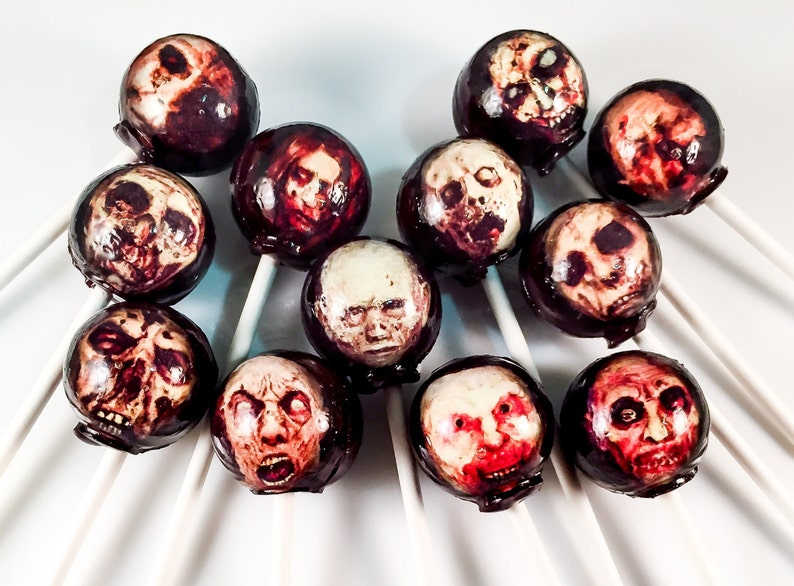 12 Zombie / Walking Dead Hard Candy Lollipops image 0