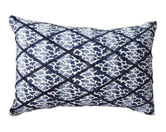 Lee Jofa Embroidered Bolster Pillow. Down Feather Insert Included.