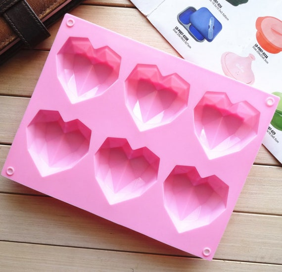 Cake Mold Soap Mold 55-Small Heart Flexible Silicone Mould For Ice lattice ice