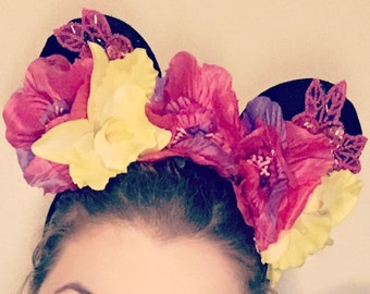Tropical Flower Crown - Mouse Ears
