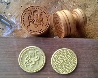 Octopus Corzetti Pasta Stamp made in fine Beech Wood from the Tuscan Casentino Forest