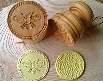 Bee Corzetti Pasta Stamp, Handturned, handcarved in Maple from Chiantishire in Tuscany