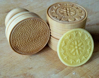 """CORZETTI PASTA Stamp = 1 Handle + 1""""Florentine Motif"""" Stamp handturned, handcarved, in Maple Chiantishire, only my hands & gouges"""