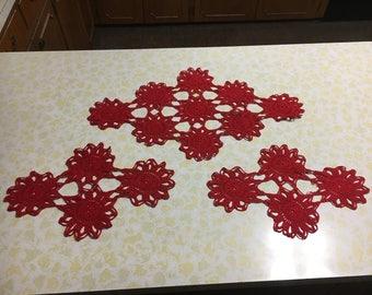 Crocheted Doilies Set