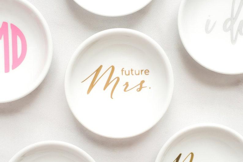 Future Mrs Ring Dish  Wedding Ring Dish  Bridal Ring Dish image 1