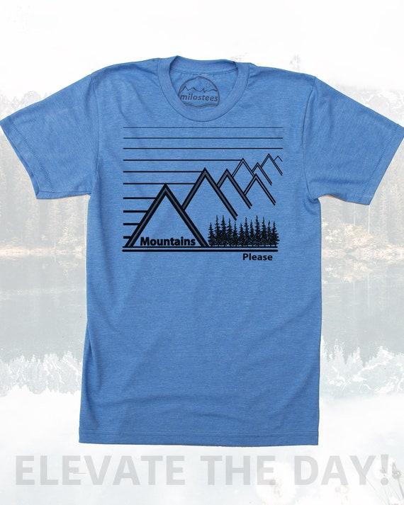Unisex Super Soft Tee Graphic Art Mountain Design
