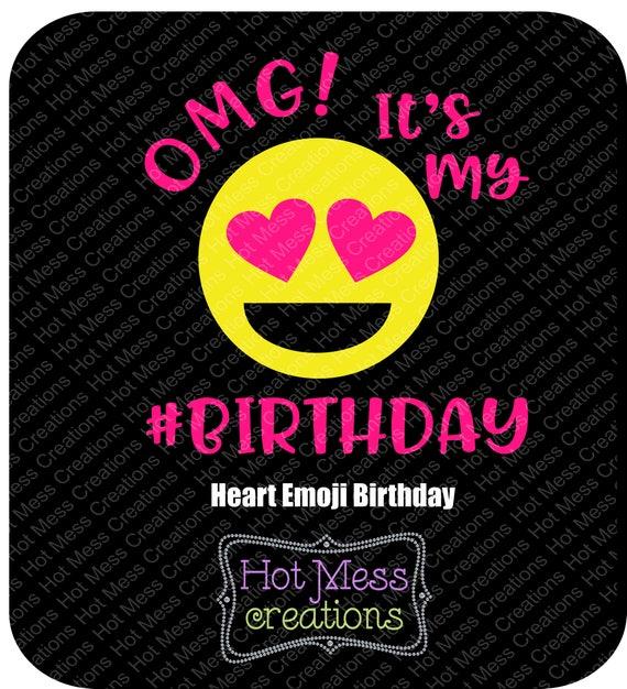 OMG Its My Birthday SVG Girl Print