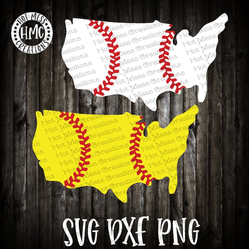 Baseball SVG DXF png - Softball svg dxf png - USA Design - Digital Download  File