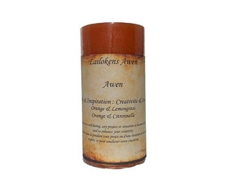 """Lailokens Awen - Awen - Creativity & Inspiration 2"""" x 4"""" Scented Spell Candle"""